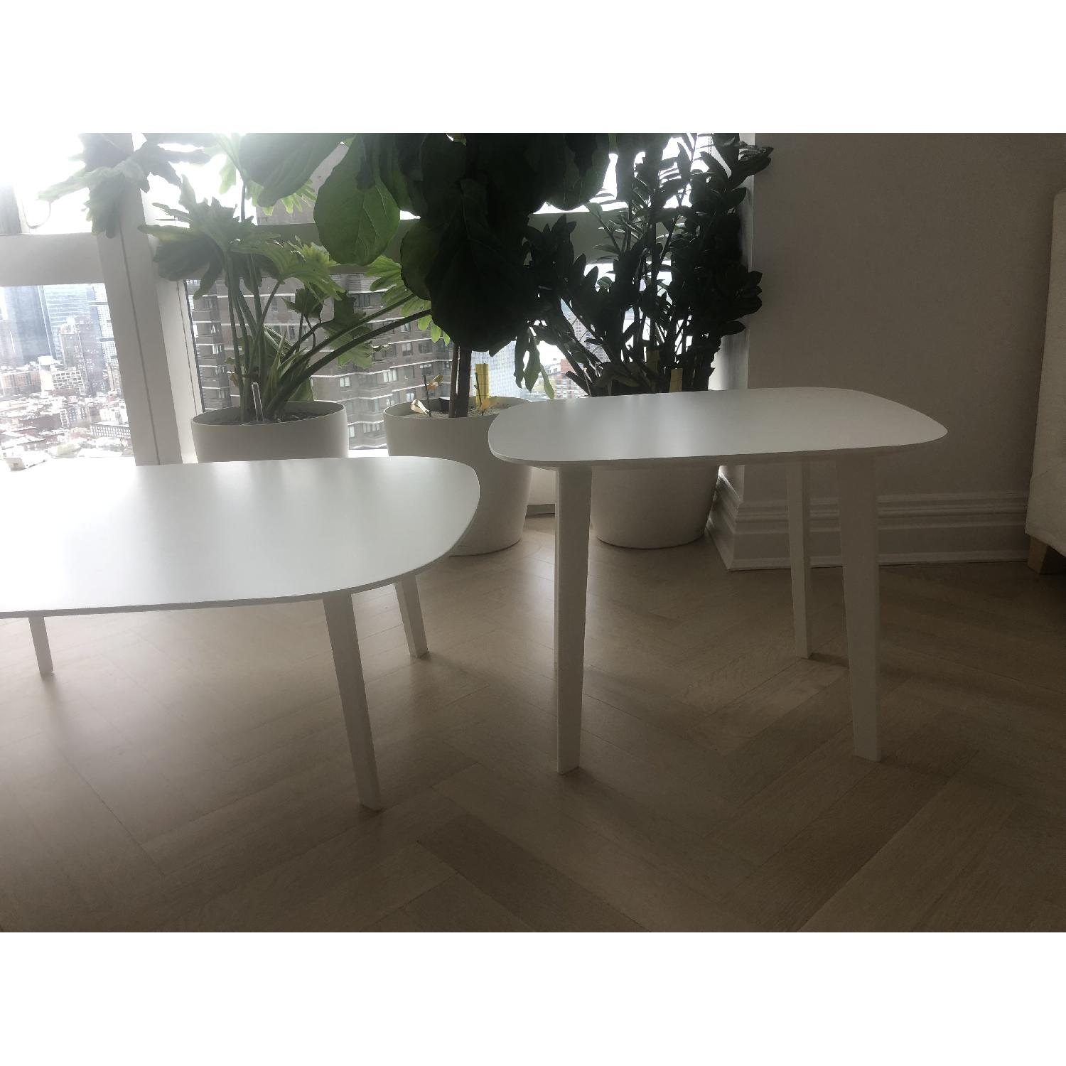 ALF Group Matte White Side Tables