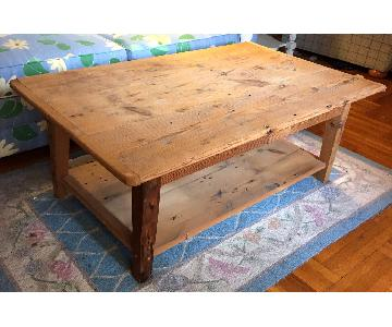 Rustic Cottage-Style Coffee Table