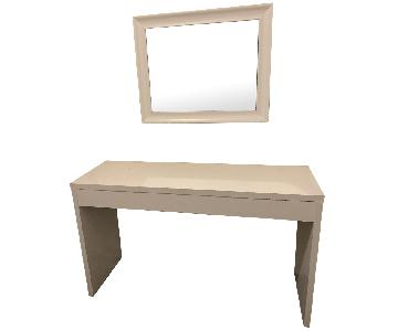 Bedroom Vanity Table w/ Mirror & Lucite Chair