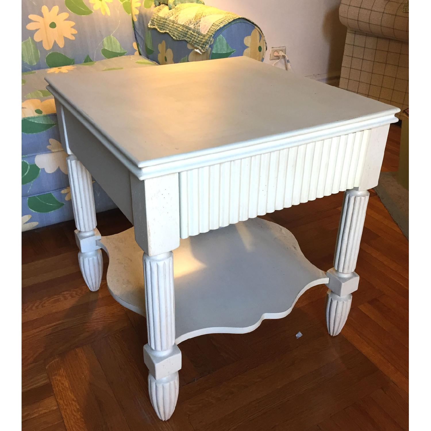 Bombay Company Cottage-Style White Side Tables-0