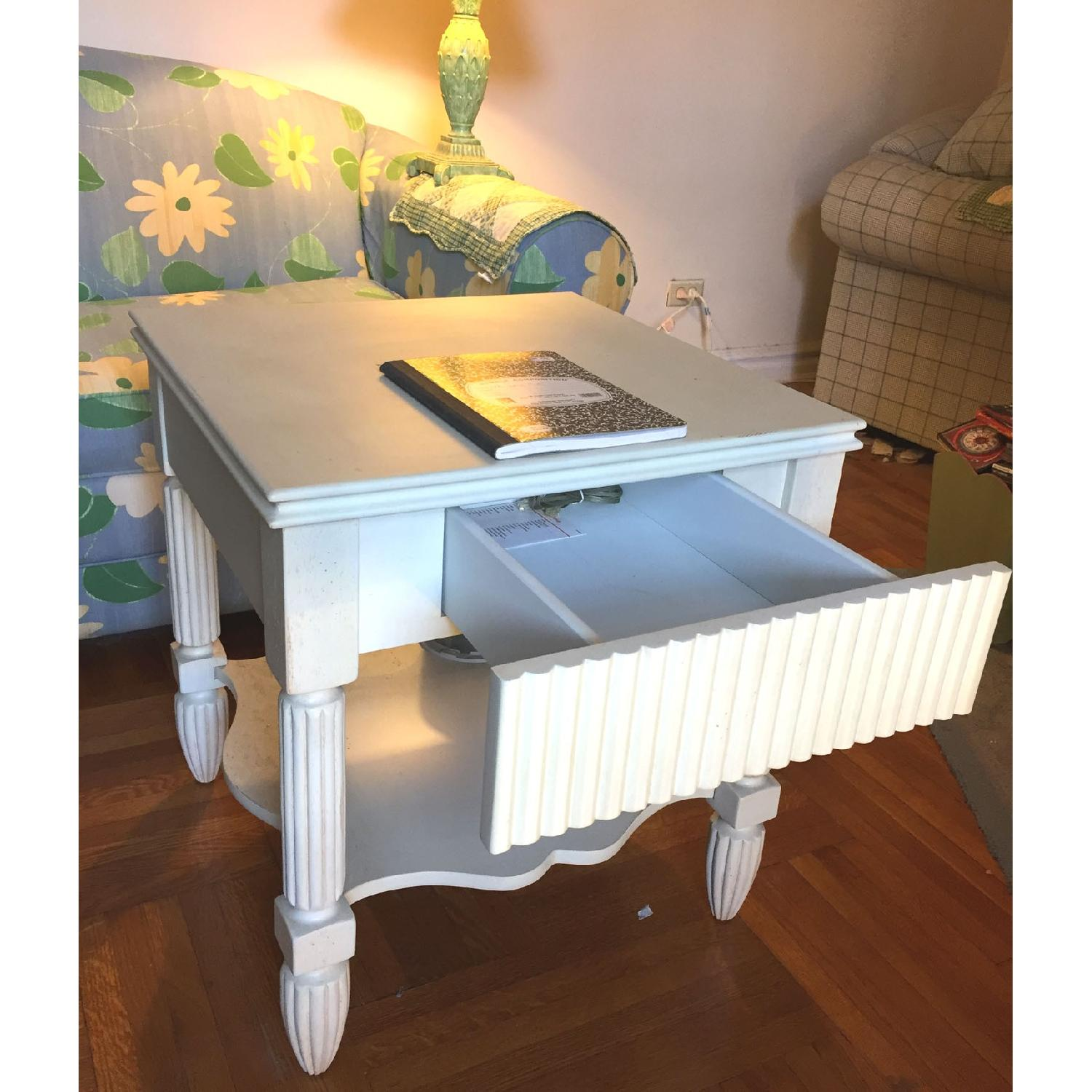Bombay Company Cottage-Style White Side Tables-1