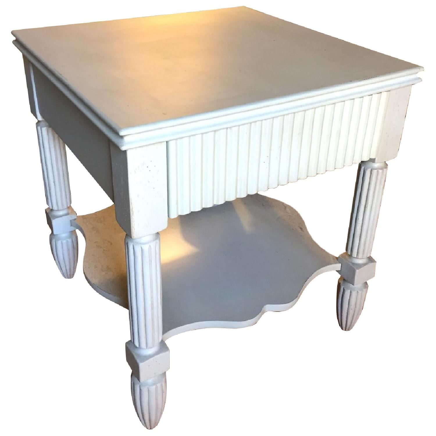 Bombay Company Cottage-Style White Side Tables