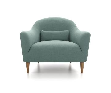 Crate & Barrel Pennie Armchair in Cornflower