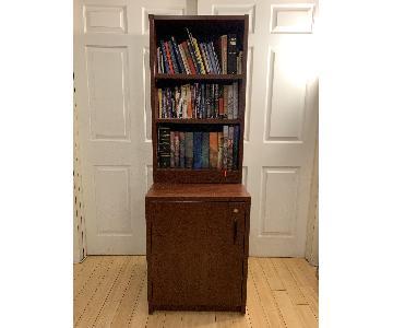 Adjustable Bookshelf w/ Cabinet Storage
