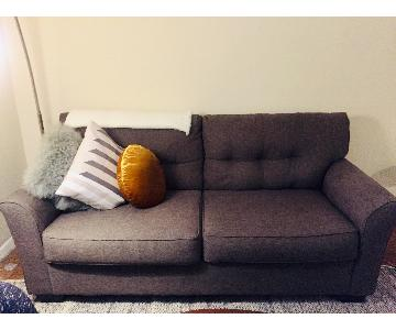 Grey/Brown Tufted Back Sofa