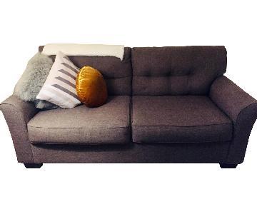 Grey/Brown Tufted Back Sofa