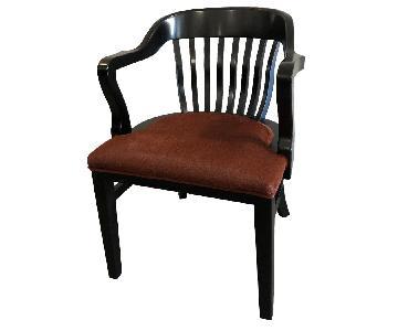 Gunlocke Company Bank of England Solid Wood Chairs
