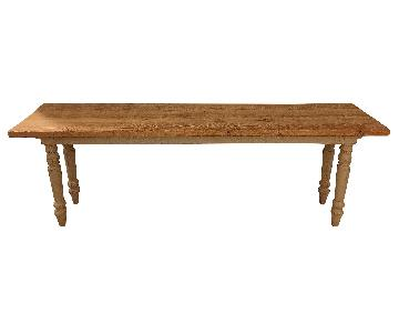 ABC Carpet & Home Long Console Wooden Table