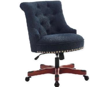 Linon Home Sinclair Office Chair in Dark Blue
