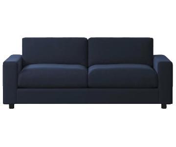 West Elm Urban Sleeper Sofa in Performance Velvet Ink Navy
