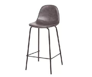 Tera Gray Faux Leather Counter Stools
