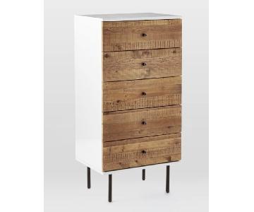 West Elm Reclaimed Wood + Lacquer 5-Drawer Dresser