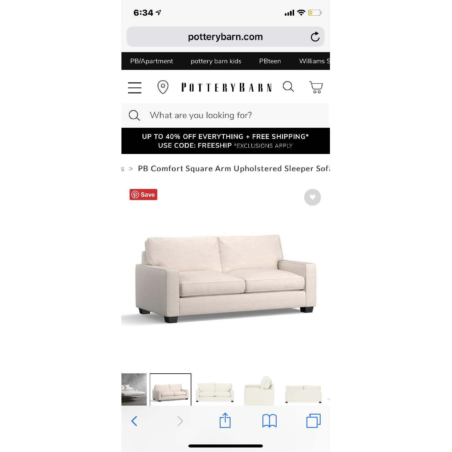Pottery Barn PB Sleeper sofa - image-2