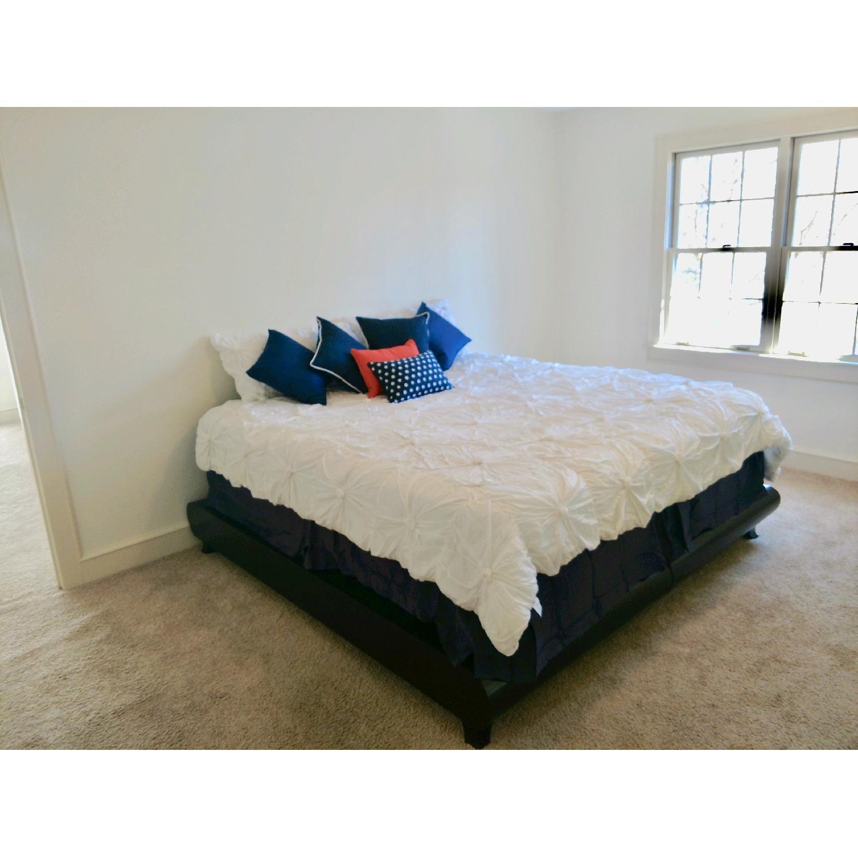 California King Platform Bed Frame w/ Java Cafe Varnish-0