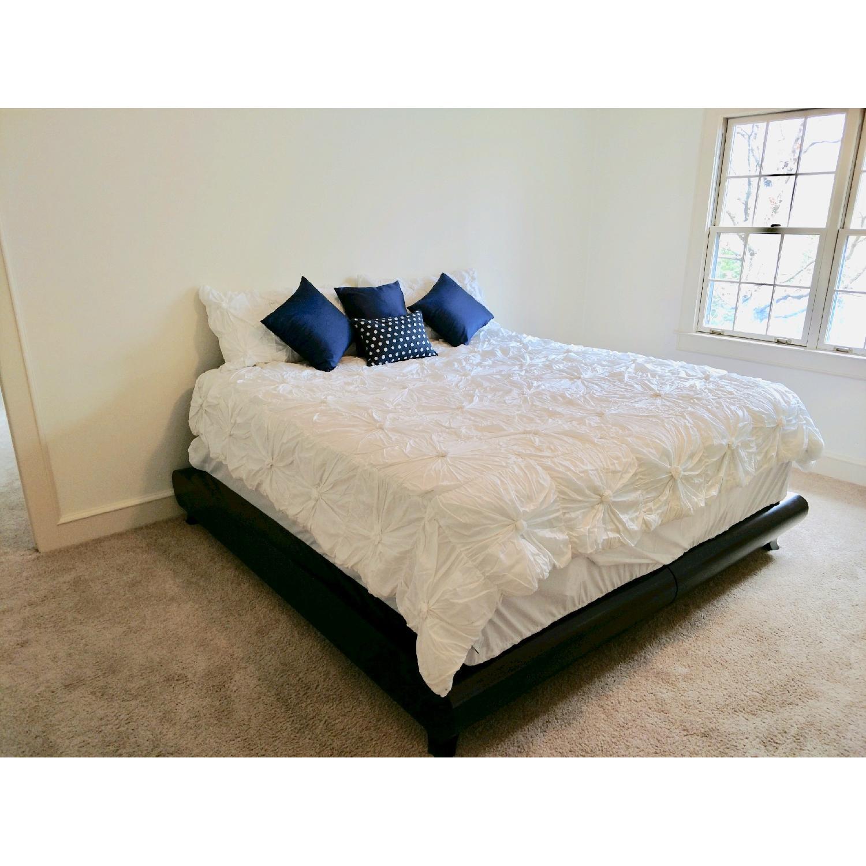 California King Platform Bed Frame w/ Java Cafe Varnish-1