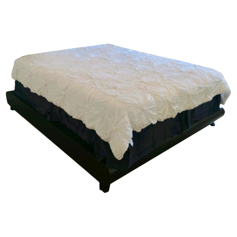 California King Platform Bed Frame w/ Java Cafe Varnish - image-0