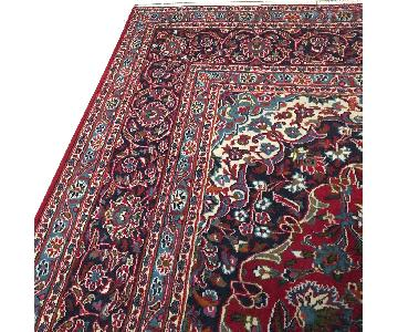 Persian Hand Made Wool Rug in Blues & Red