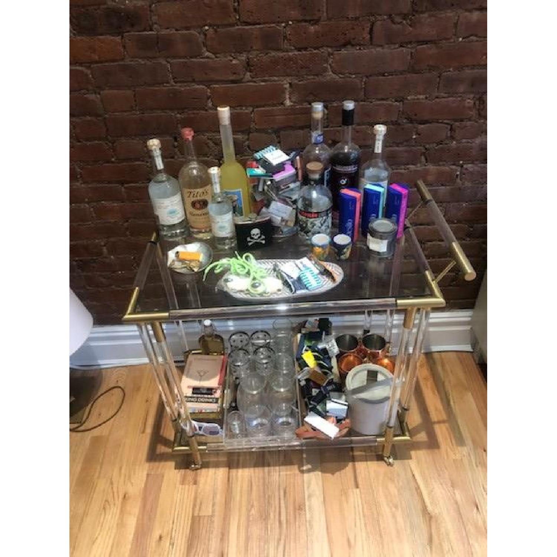 Anthropologie Oscarine Lucite Bar Cart-0