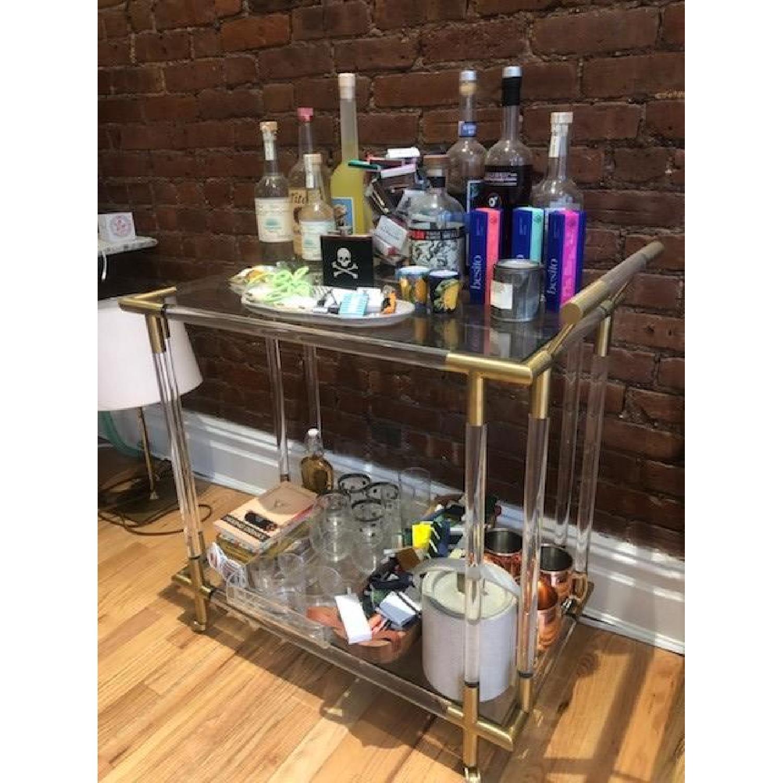 Anthropologie Oscarine Lucite Bar Cart-1