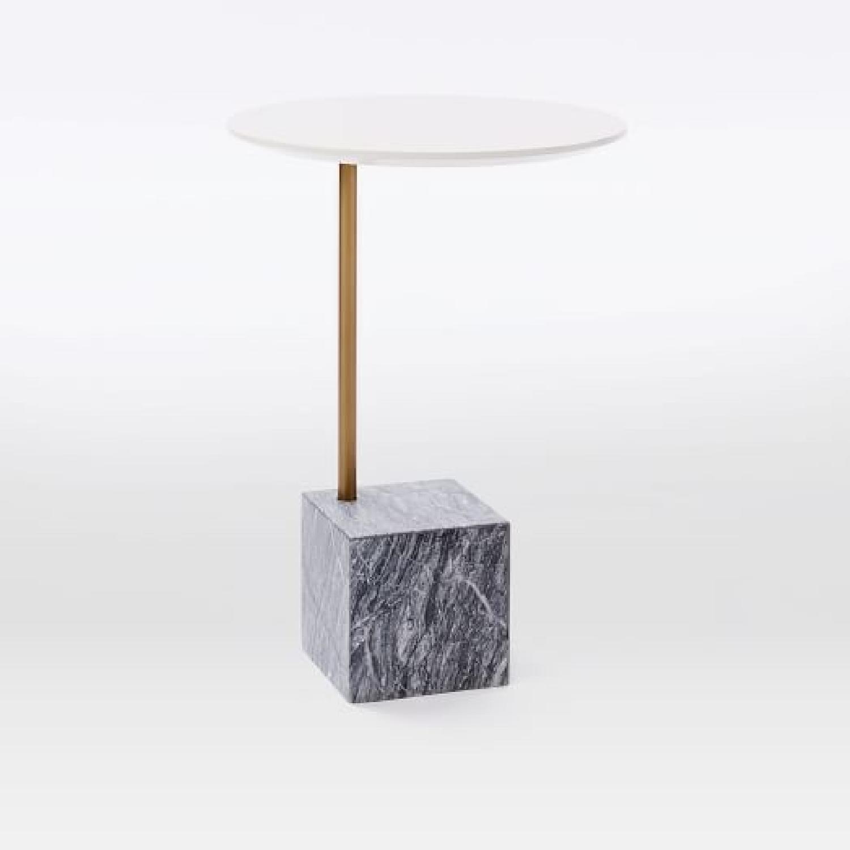 West Elm Marble Cube Side Table Aptdeco