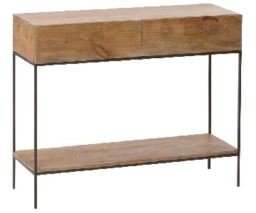 West Elm Industrial Storage Console in Raw Mango