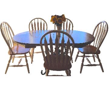 West Elm Wood Kitchen Table w/ 5 Chairs