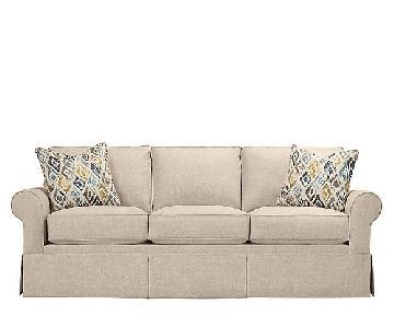 Raymour & Flanigan Lundie Tan Sleeper Sofa