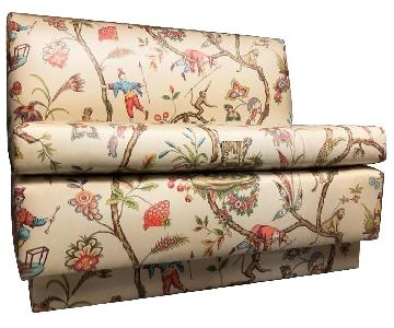 Brunschwug & Fils Chinoiserie Polished Cotton Banquette