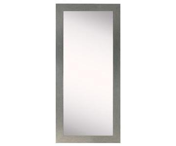 Wade Logan Rectangle Silver Framed Wall Full Length Mirror