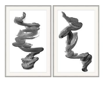 Williams Sonoma Minimalist Stroke Wall Art