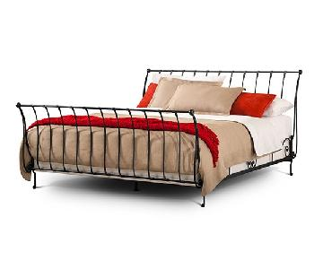 Charles P. Rogers Iron Paris Sleigh Bed w/ Headboard