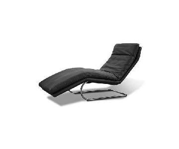 Lazzoni Black Leather Boss Chaise