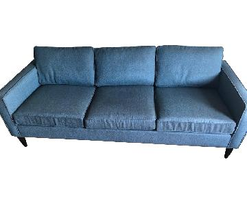Room & Board Blue 3 Seater Sofa