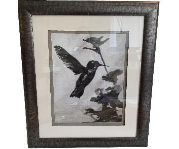 Large Framed & Mounted Neutral Artwork