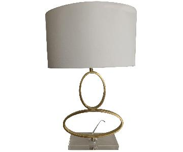 Gold Modern Oval Lamps