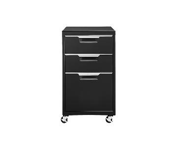 CB2 Rolling File Cabinet