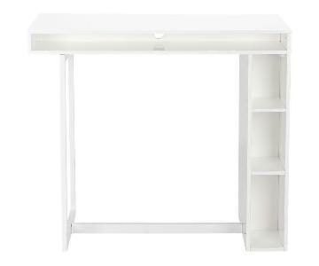 CB2 Public White Counter Height Table/Desk