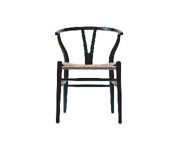 Design Within Reach Black Wishbone Chair