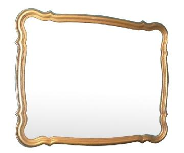 Vintage Large Decorative Gold Framed Mirror