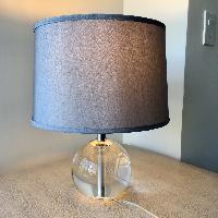 Crate & Barrel Sybil Globe Crystal Table Lamp