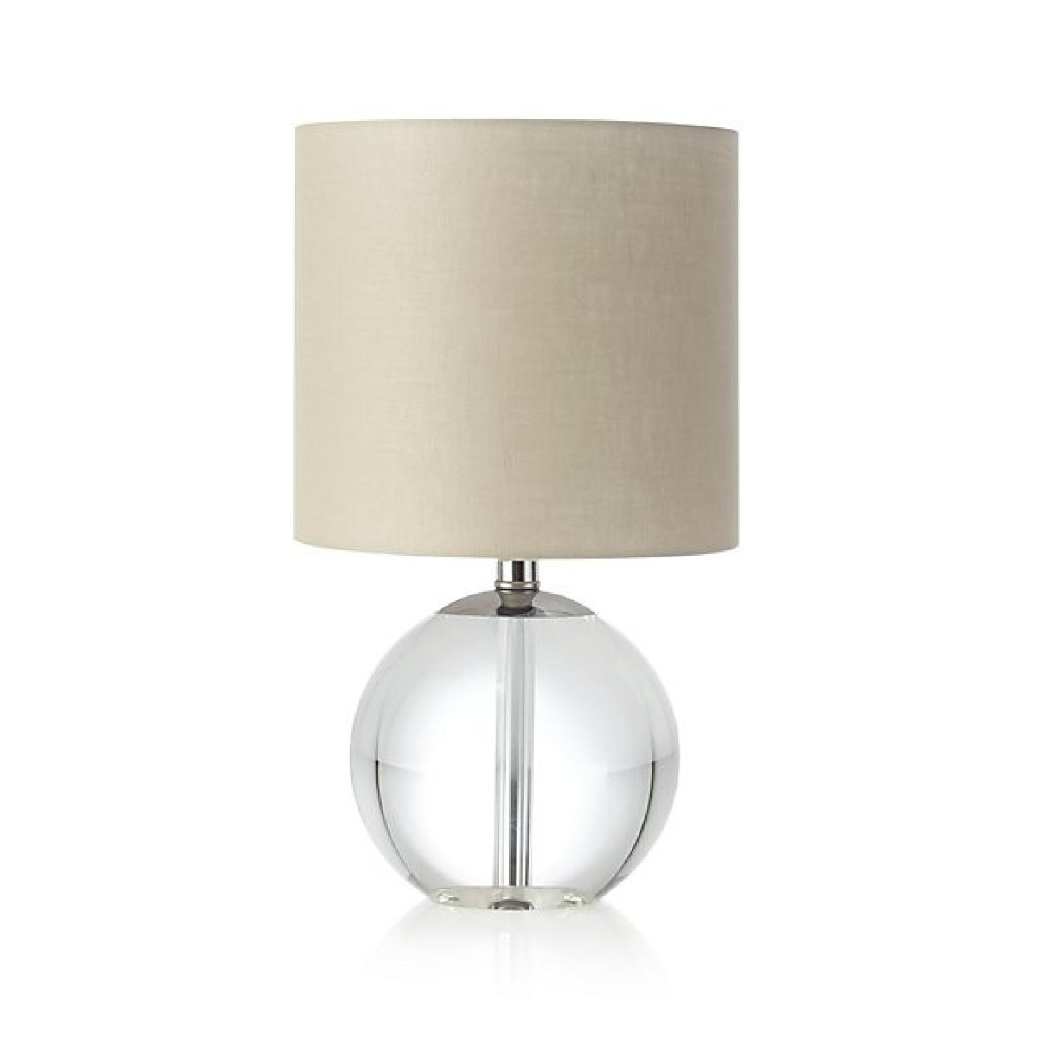 Crate & Barrel Sybil Globe Crystal Table Lamps