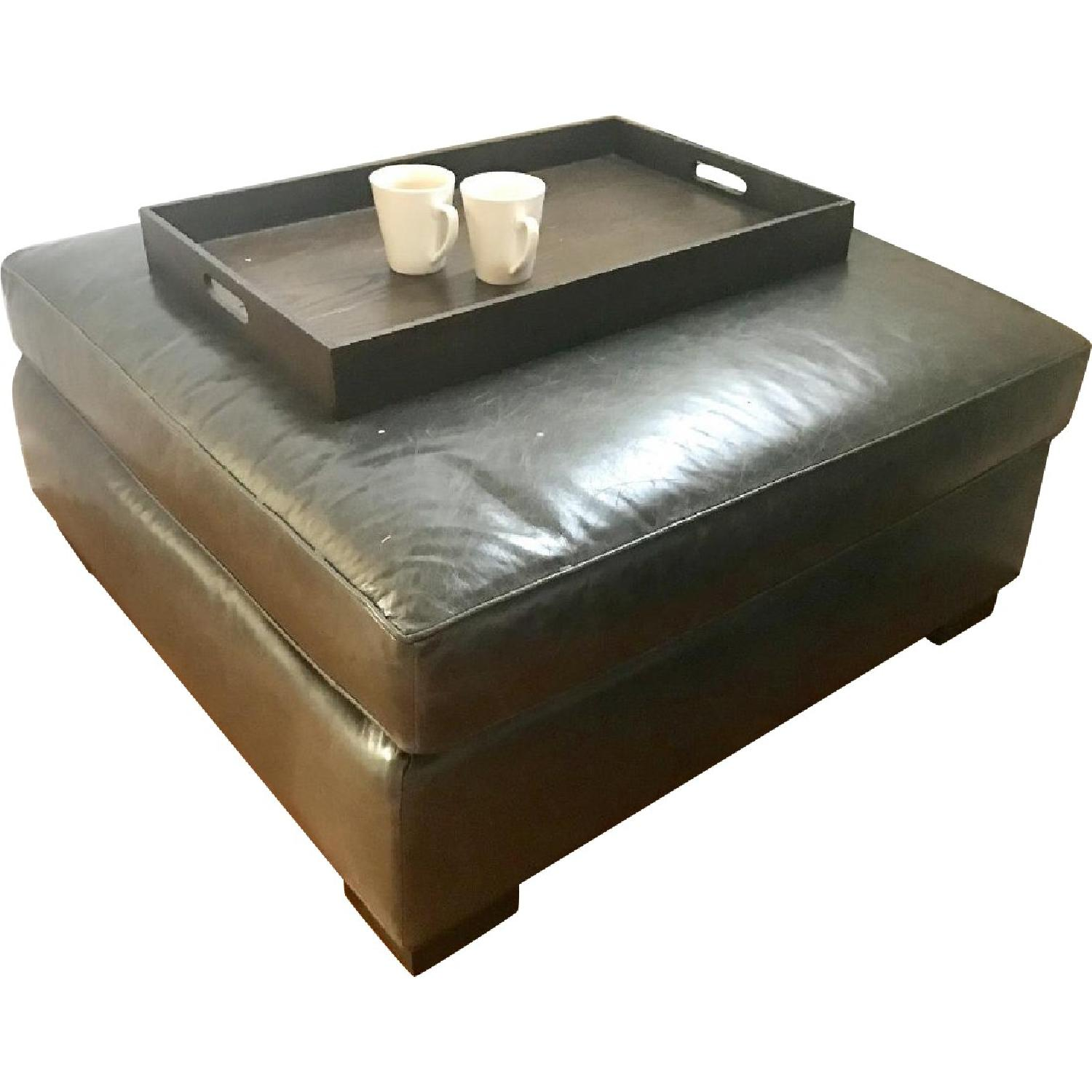 Mitchell Gold + Bob Williams Carson Ottoman in Slate Grey