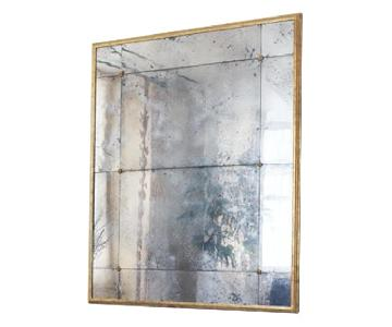 Mercury Glass Mirror w/ Brass Frame