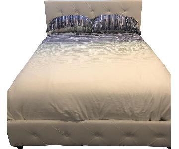 Full Size Upholstered Platform Bed Frame