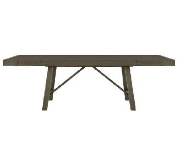 Gray Wood Rectangular Table