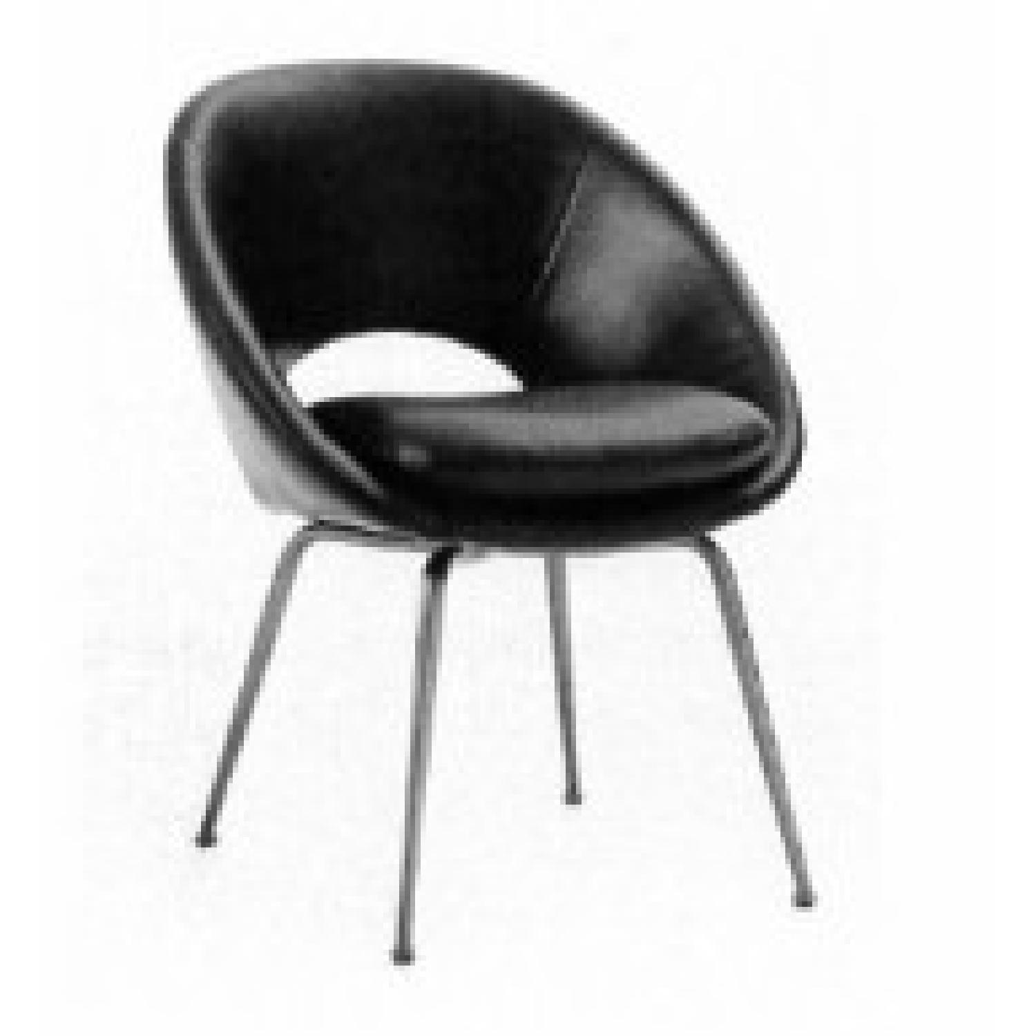 Strange West Elm Orb Dining Chairs In Black Leather Aptdeco Gmtry Best Dining Table And Chair Ideas Images Gmtryco