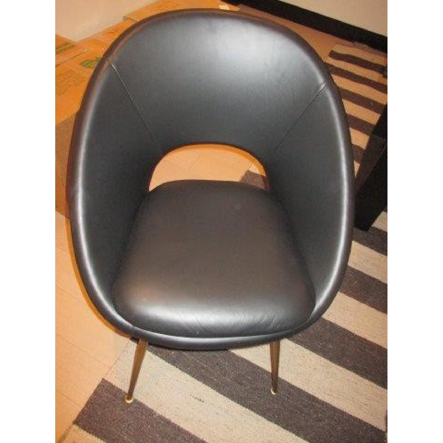 Astounding West Elm Orb Dining Chairs In Black Leather Aptdeco Machost Co Dining Chair Design Ideas Machostcouk