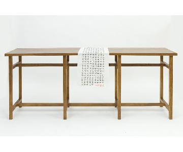 Figure Ground Artifact Console Table W/Chair