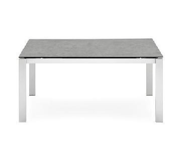 Connubia Baron Extendable Dining Table w/ Glass Top