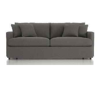 Crate & Barrel Lounge II Sofa in Taft Steel